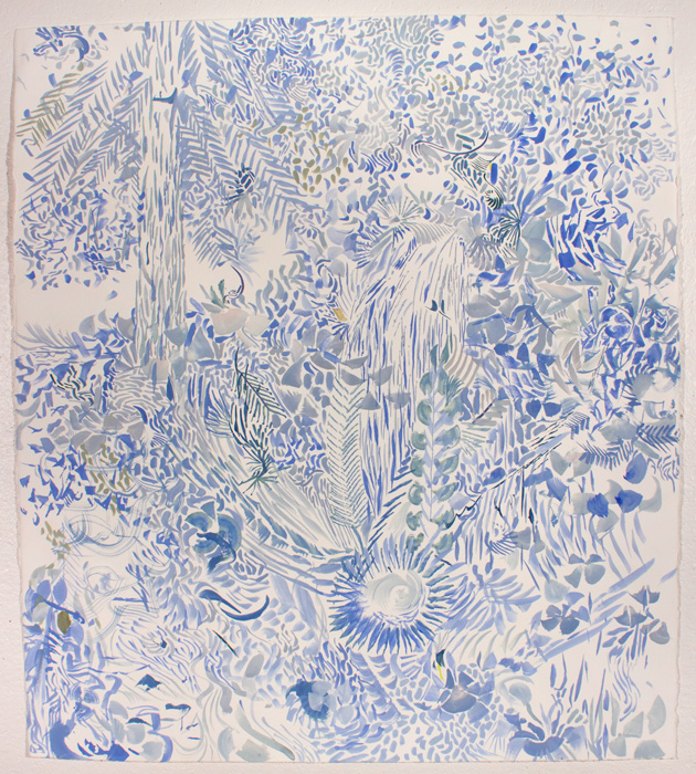 Blue Forest  24 x 18, gouache on paper