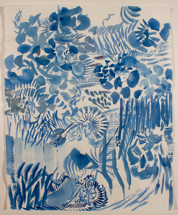 Blue Forest  21.5 x 17, gouache on paper