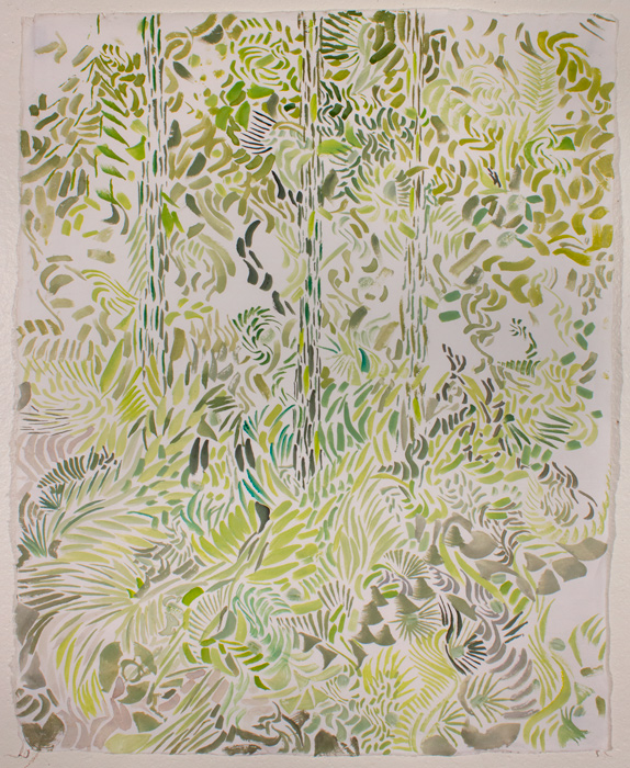 Green Forest  21.5 x 17, gouache on paper