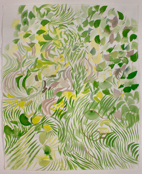 Green Thicket  21.5 x 17, gouache on paper