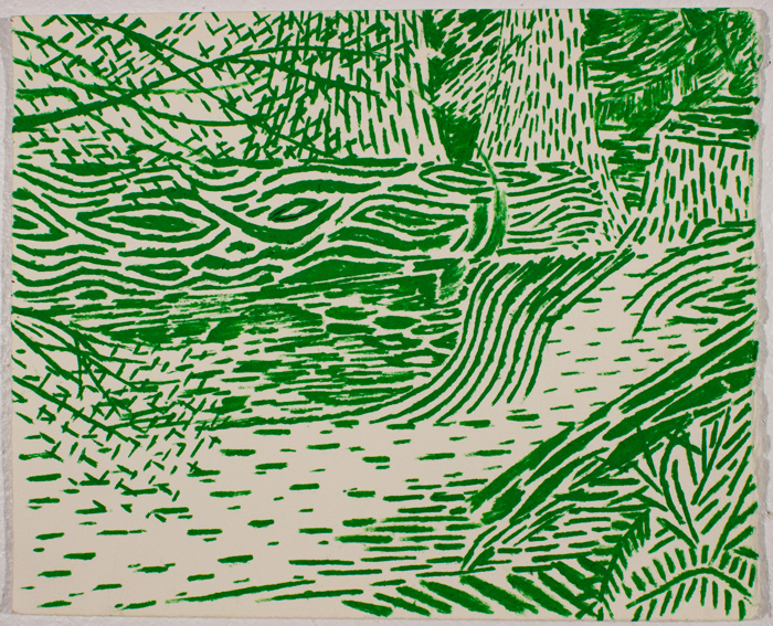 Green Woods 11.5 x 13.5, ink on paper